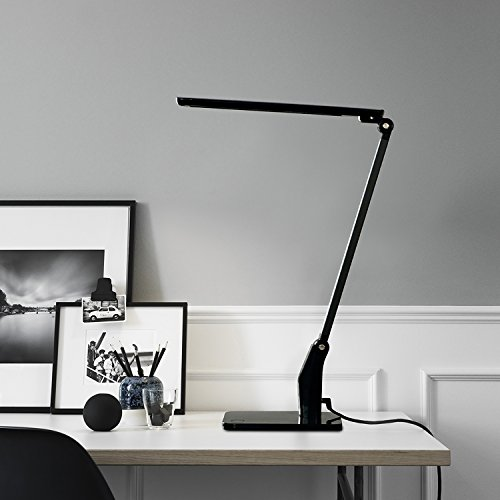 3-D Adjustable LED Desk Lamp Omaker Home Energy Saving LED Desk Lamp (12W,Eye-Caring,3-D Adjustable Arm,Touch-Sensitive Control Panel,with USB Charging Port)