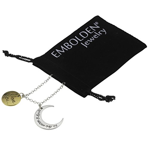 Fashion Silver Moon I Love You Mood Necklace - Perfect Jewelry Accessories Women Girls and Teen Girls