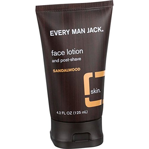 Every Man Jack, Face Lotion and Post Shave - Sandalwood - 4.2 oz