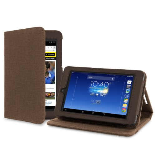 Cover-Up Asus MeMO Pad HD 7 ME173X (7-inch) Tablet Version Stand Natural Hemp Cover Case - Cocoa Brown