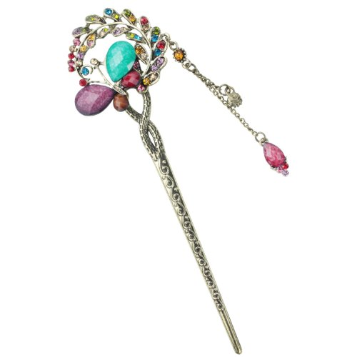 niceeshop(TM) Women Girls Retro Tassels Alloy Hair Pin Hair Stick