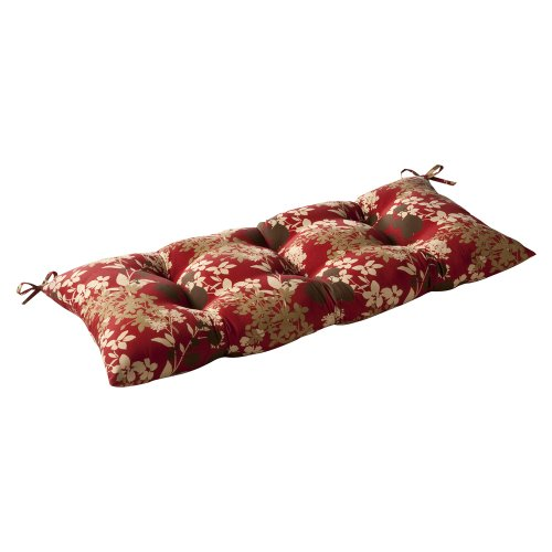 Pillow Perfect Indoor/Outdoor Montifleuri Red Swing/Bench Cushion