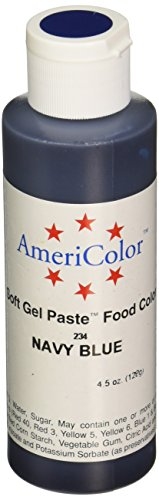 Americolor Soft Gel Paste Food Color for Decorating Cake, 4.5-Ounce, Navy Blue