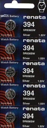 394 Watch battery - Strip of 5 Batteries