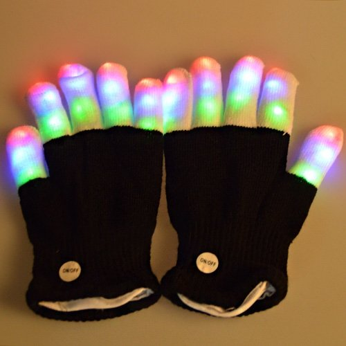 ABLEGRID® LED Gloves Party Light Show Gloves- The Best Gloving & Lightshow Dancing Gloves for Clubbing, Rave, Birthday, EDM, Disco, Halloween, Christmas Day and Dubstep Party (SL-ST-8)