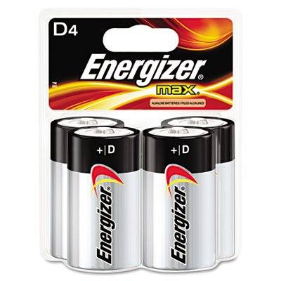 Energizer E95bp-4 Alkaline Battery, 1.5 Volt, D