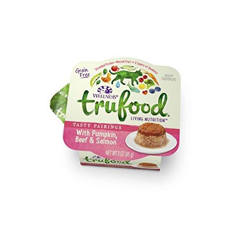 Wellness TruFood Tasty Pairings Grain Free Pumpkin, Beef & Salmon Natural Raw Wet Cat Food, 3-Ounce Cup