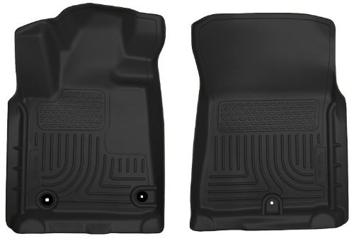 Husky WeatherBeater 2012-2013 Toyota Tundra Front Floor Liners - Fits All Cab Styles with Twist-lock Fasteners - Black