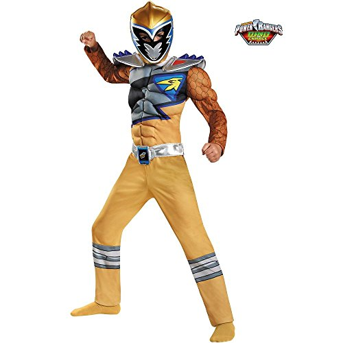 Disguise Gold Ranger Dino Charge Classic Muscle Costume