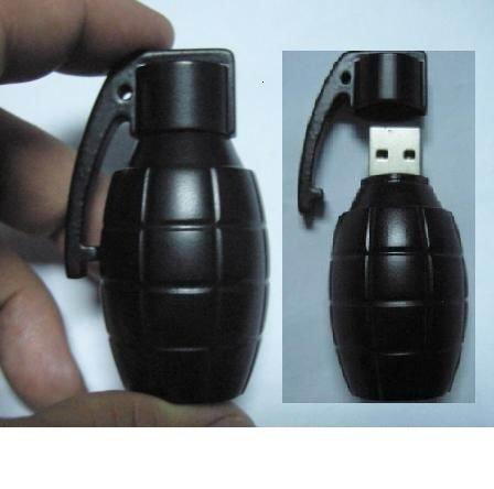 8GB 3D Bomb Shape USB FLASH DIVE 2.0 Gun Flash Drive Memory Pen Disk