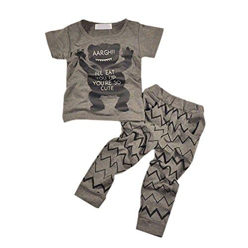 PanDaDa Baby Boys Giraffe T-shirt Tops Long Sleeve Pants Tracksuit Sport Sui...