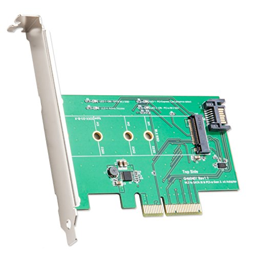 IOCrest M.2 to PCIe X 4 SSD Adapter Components