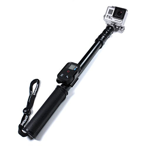 SANDMARC Pole - Metal Edition: 38-127 cm Professional All-Aluminum Waterproof Extension Pole / Stick / Monopod for GoPro Hero 4, Session, 3+, 3, 2, and HD Cameras - Lifetime Warranty