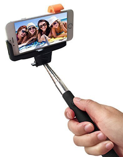 TouchSnap Self-Portrait Selfie Stick For iPhone 5 & iPhone 6. Built-in Bluetooth Remote Shutter. Compatible With iPhone 5, iPhone 6, Samsung Galaxy S5. Works With iOS and Android. (Black)