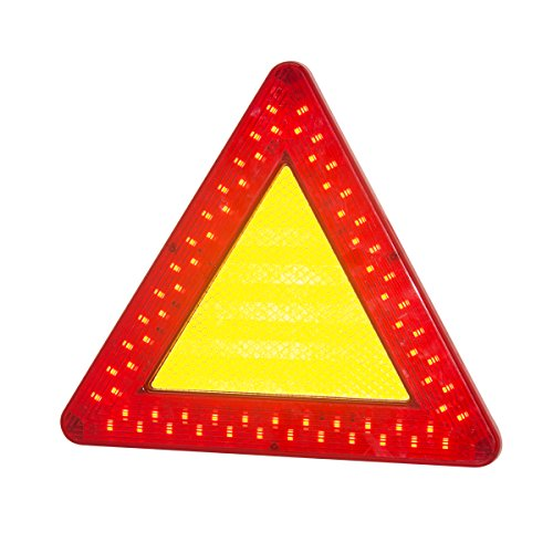 Zoweetek® Emergency Survival Tool for Car LED Passively Reflective Emergency Road Hazard Safety Warning Flasher Triangle