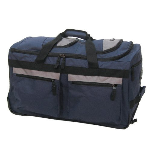 Olympia Luggage 29 8 Pocket Rolling Duffel Bag