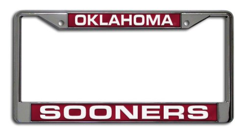 NCAA Oklahoma Sooners Laser Cut Chrome Plate Frame