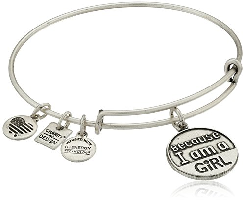 Alex and Ani Charity by Design Because I Am A Girl Rafaelian Finish Expandable Bangle Bracelet