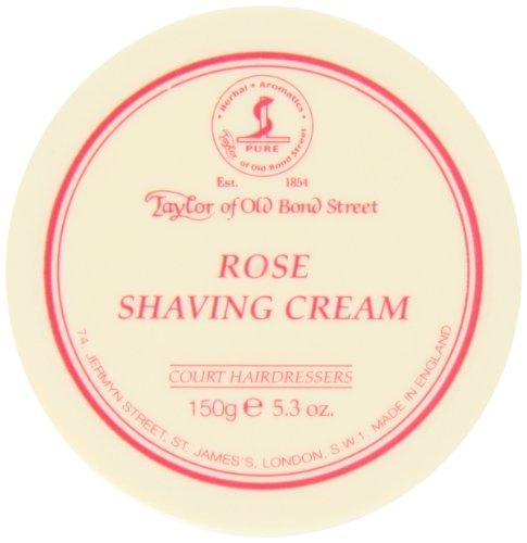 Taylor of Old Bond Street Rose Shaving Cream Jar, 5.3-Ounce