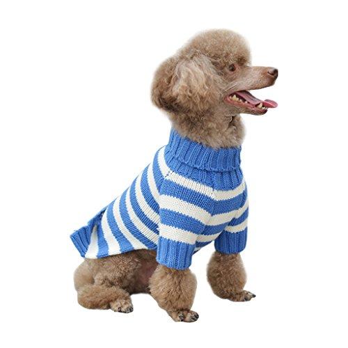 BINGPET Striped Fashion Dog Sweater For Winter