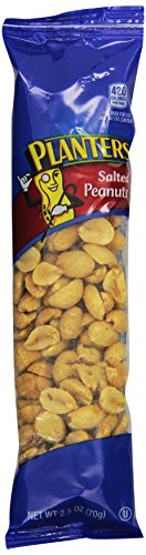Planters Super Tube Nuts, Salted Peanuts, 2.5-Ounce, 15 Count