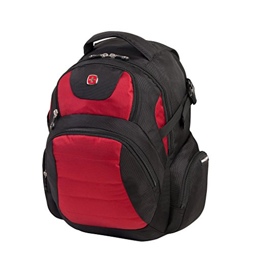 Swiss Gear Backpack, Black / Red, Under Seat