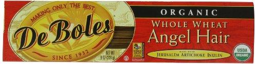 DeBoles Organic Whole Wheat Angel Hair Pasta, 8 Ounce (Pack of 12)