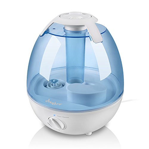 Anypro 3.5L Cool Mist Humidifier (Up To 36+ Hours Running) - The First Anti-mold Ultrasonic Humidifying Unit, Super Quiet Operation