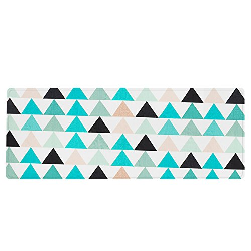Norcho Non-slip Soft Bedroom Livingroom Mat Comfortable Triangle Stripe Shape Pattern Kitchen Rug 46.45x17.12x0.47inch