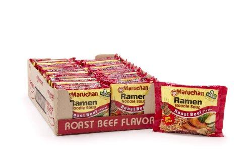 Maruchan Ramen, Roast Beef, 3-Ounce Packages (Pack of 24)