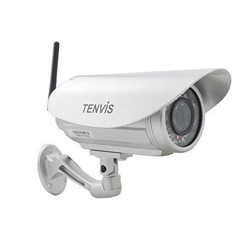 TENVIS IP391W Outdoor Wireless Waterproof Bullet IP/Network Security Surveillance Camera, Support Smart Phone Remote View, Screen Capture, with 10m Night Vision, Motion Detection with Instant Alert