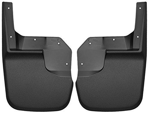 Husky Liners Custom Fit Front Mudguard for Select Jeep Wrangler Models - Pack of 2 (Black)