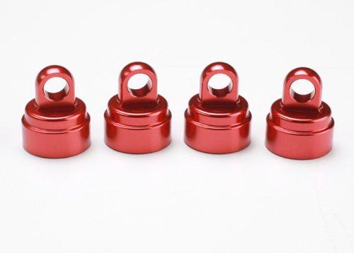 Traxxas 3767X Aluminum Red Shock Caps, for Ultra Shocks, 4-Piece