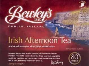Bewley's Irish Afternoon Tea - 80 Bags (8.8 ounce)