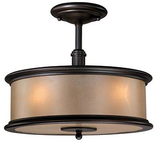Vaxcel CRCFU130NB 3 Carlisle Semi Flush Ceiling Light Fixture in Noble Bronze