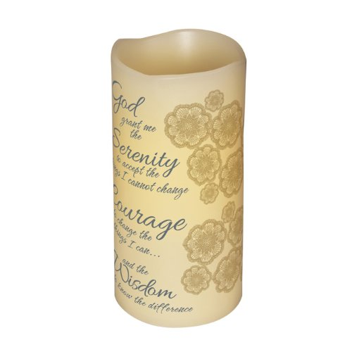 Carson - Inspirational Decorative Serenity Prayer Flameless Led Candle