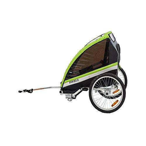 Via Velo Maverick 2 Child - Green Bicycle Trailer