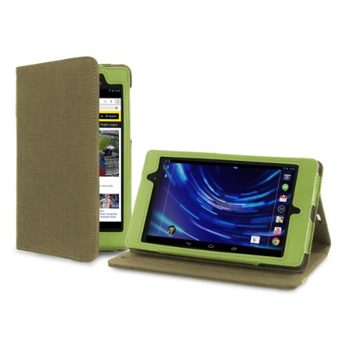 Cover-Up Google Nexus 7 2 FHD (2013) (7-inch) Tablet Version Stand Natural Hemp Cover Case - Khaki Green