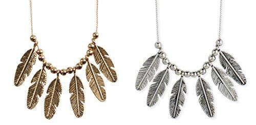 Bohemia 6 Feather Necklace - SPUNKYsoul Collection