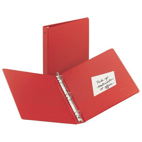 Avery Economy Binder with 1 Inch Round Ring, Red, 1 Binder (3310)