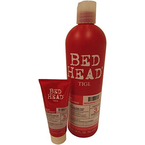 Tigi Bed Head Urban Anti+dotes Resurrection Shampoo Damage Level 3, 25.36 Ounce, and 2.54 Oz, Travel Size included