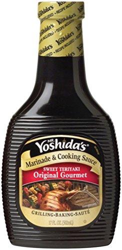 Mr. Yoshida's Marinade & Cooking Sauce, Sweet Teriyaki Original Gourmet, 17 Ounce (Pack of 6)