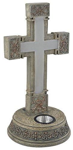 Moonrays 92302 14.25-Inch Solar Lighted Cross Memorial Statue