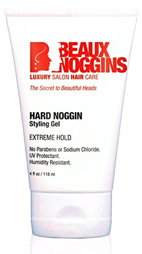 Hard Noggin HAIR GEL by BEAUX NOGGINS - Ultimate Extreme Holding Hair Styling Gel For Men, Women & Teens - Stays Where You Want It All Day Long Without Being Sticky Or Too Stiff - Humidity Buster!