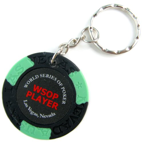 Trademark WSOP Player Black Key Chain (Black)