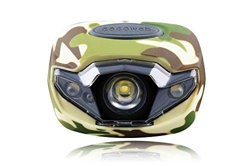 Cocoweb Ultra Bright LED Headlamp Flashlight LED Headlight - Light & Comfortable with 248% Longer Battery Life! Adjustable White, And Strobe Light Ideal for Camping, Running, Hunting, Reading, Construction and more! Water Resistant with batteries included!