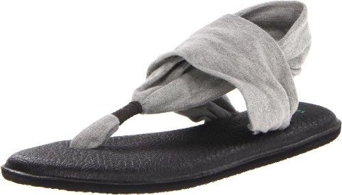 Sanuk Women's Yoga Sling 2 Flip Flop,Gray,10 M US