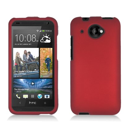 Cell Accessories For Less (TM) For HTC Zara/ Desire 601 Rubber Cover, Red + Bundle (Stylus & Micro Cleaning Cloth) - By TheTargetBuys