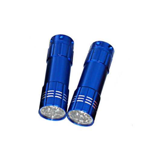Dorcy 41-3244 2 Pack 3AAA 9 LED Aluminum Flashlight Combo with Batteries
