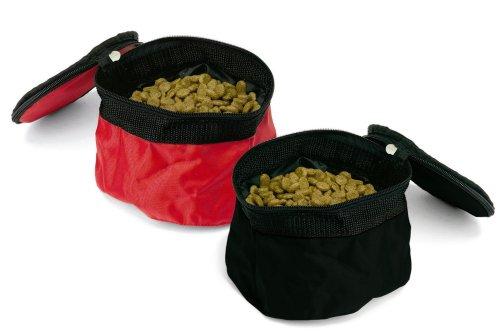 Bergan Pet Travel Bowl (Colors Vary, Red or Black)